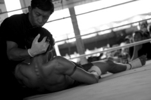 First Place - Matthew Duncan: In some Thai boxing matches in Mae Sot, referees call a halt only when fighters can no longer stand.