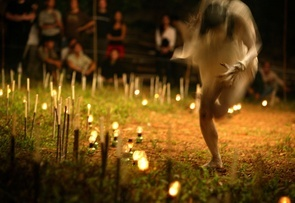 First Place - Nguyen Viet Thanh: Vietnamese artist Dao Anh Khanh (right) dances during a show of performance art in Hanoi. Pursuing a relatively new school of art, Khanh and his fellows found it hard to set foot in the cultural life of the Southeast Asian country of 84 million people.