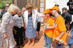 "The Duchess of Cornwall Camilla Parker Bowless, wife of Prince Charles during his visit to Naples and went to ""La Gloriette"". The Villa seized by the police of the Mafia boss Michele Zaza and now become multi-purpose center for children with disabilities."