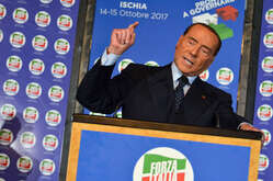 Silvio Berlusconi in Ischia, southern Italy, during the convention of Forza Italia.