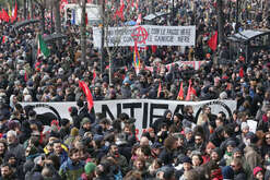A moment of anti-racist demonstrations in Macerata.