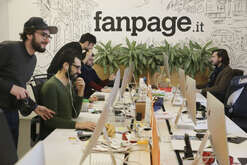 The editorial staff of Italian online magazine Fanpage.