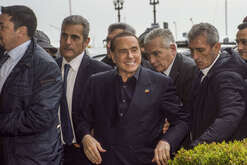 Silvio Berlusconi on a visit to the historic center of Naples.