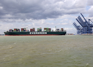 Gallery - Ever Govern Evergreen container ship, Port of Feli