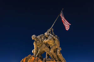 Marine Corps War Memorial, also known as the Iwo Jima Memorial.