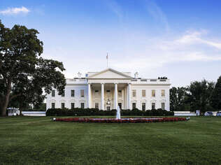 The White House, home of the United States President.