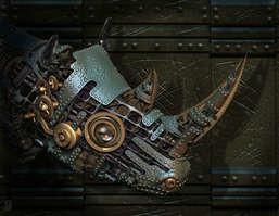 Rhino; robots; science fiction; space; universe; alien; mechanical;