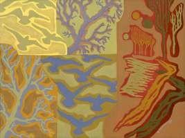 painting,postmodern,illustration, birds, trees, spring, animals illustration