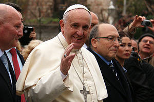 Pope Francis visited the Hagia Sophia Museum and the Sultan Ahmet Mosque in Istanbul.
